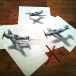 Dogfight-840x667-Superb 3D Artwork on Paper