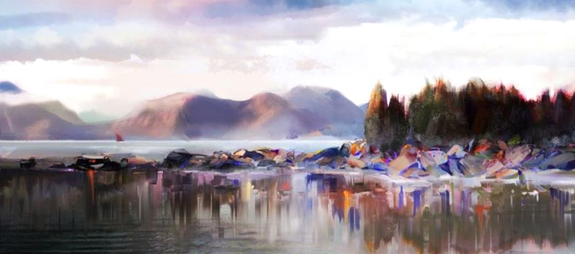 Lake-mirror-840x372-Great digital ArtWorks by Francisco Albert