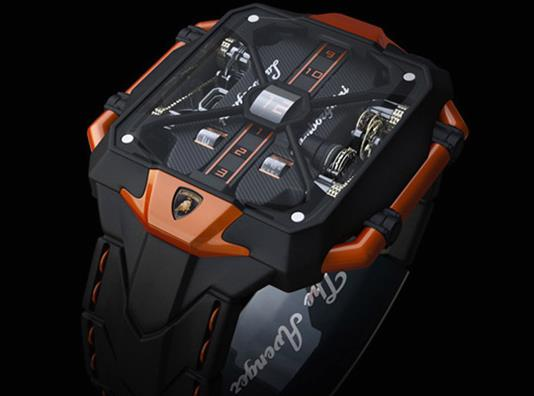 Lamborghini Avenger Vertical Tourbillon Watch Concept17