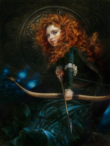 20 best pictures of Disney characters in the fantasy - Oil painting