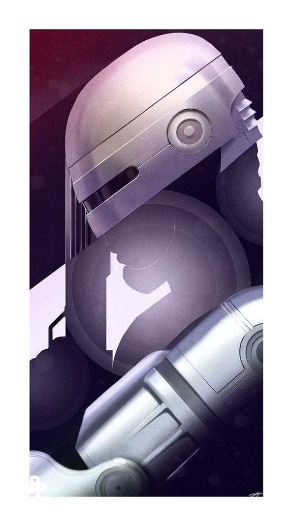 Robocop by AndyFairhurst-illustration-draw-inspiration