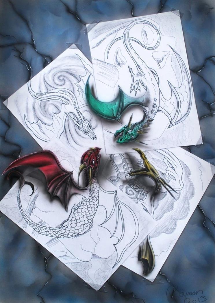 The-Clash-Superb 3D Artwork on Paper