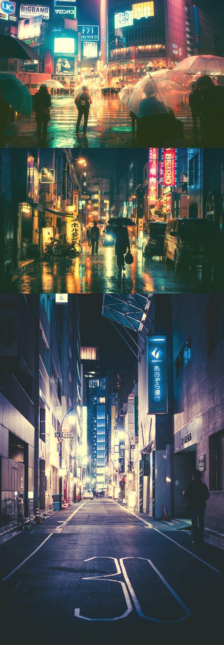 Tokyo Streets at Night by Masashi Wakui15