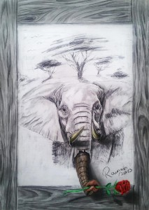 Welcome-to-Africa-Superb 3D Artwork on Paper