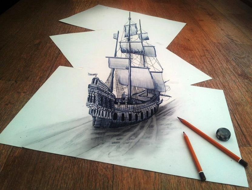 While-sailing-through-my-3d-imagination-840x635-Superb 3D Artwork on Paper