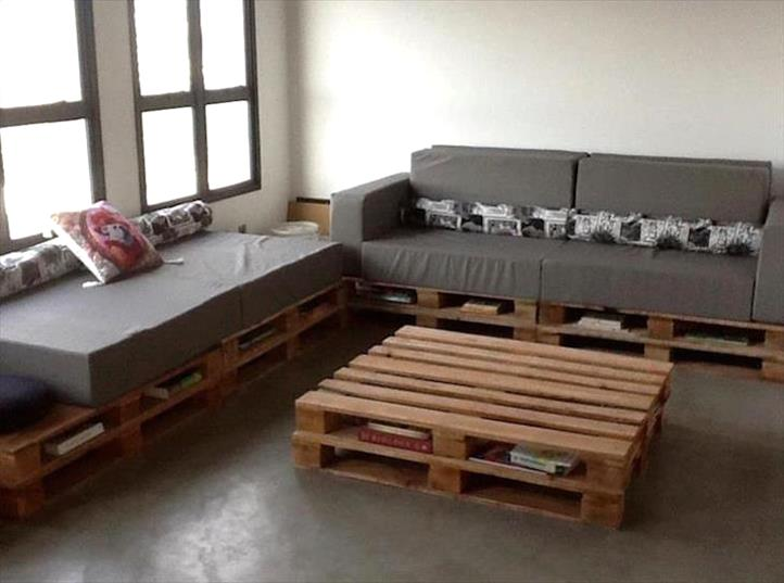 10 interesting designs sofa of pallets sky rye design for Corner sofa living room designs