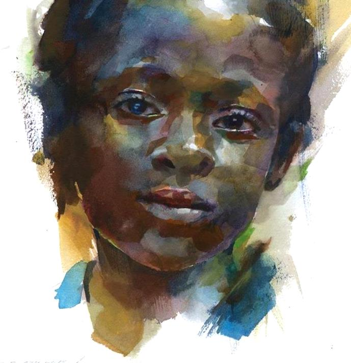 6 amazing watercolor portrait painters | Sky Rye Design