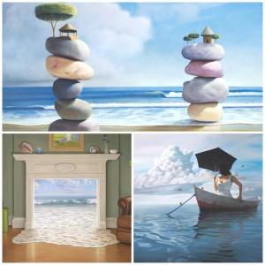 Bond-collage-modern-art-artist-sea