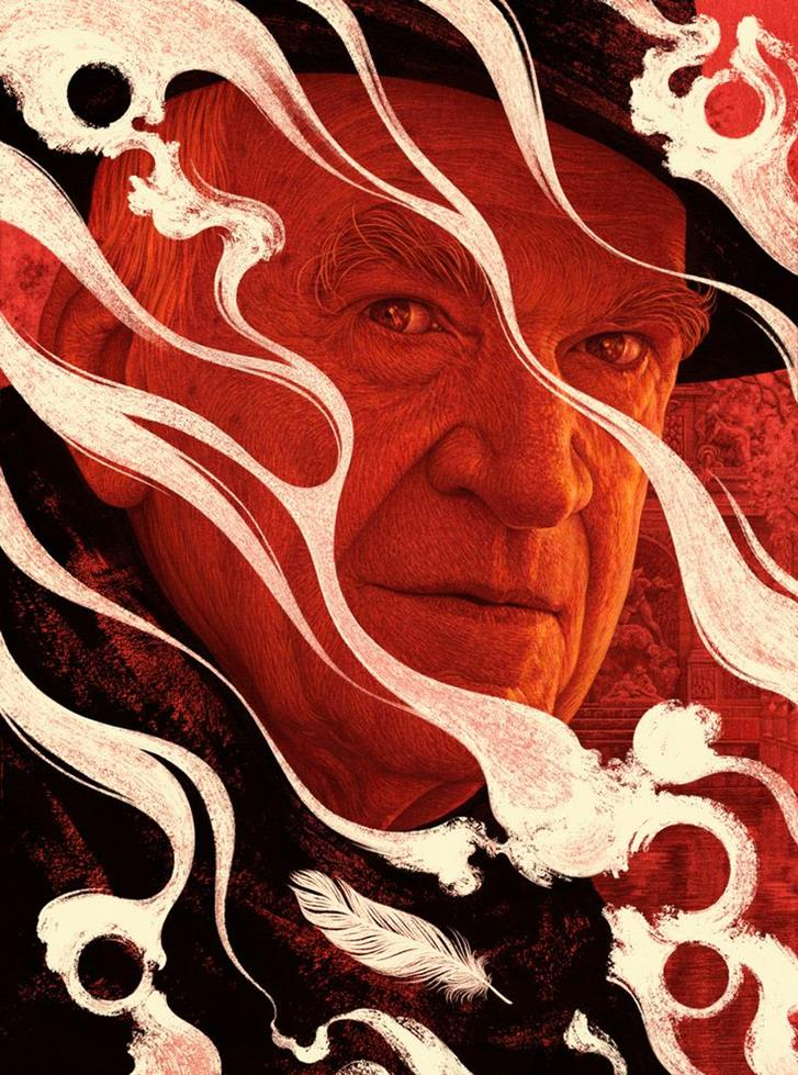 Milan Kundera by Boris Pelcer-Stunning-illustrations-design-top-artists