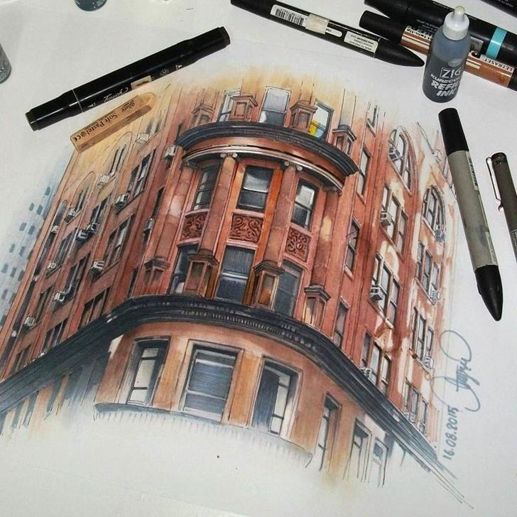 New York - Delmonicos by Aise Baki-Stunning-illustrations-design-top-artists