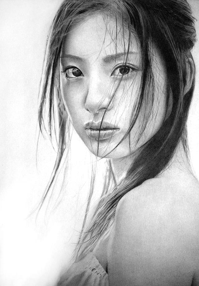 aya_ueto_by_klsadako-Hyper-Realistic-Pencil-Drawings-art-