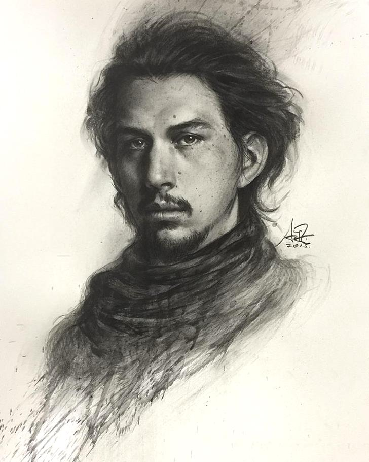 Kylo Ren by artgerm-Magnificent Illustrations-Drawings_paints
