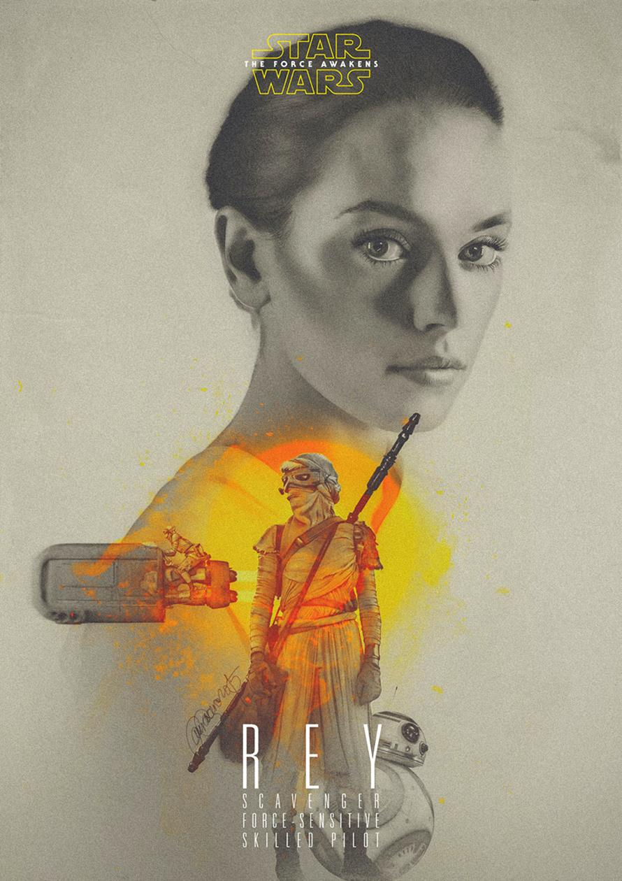 Star Wars-Rey by Laura Racero-Magnificent Illustrations-Drawings_paints