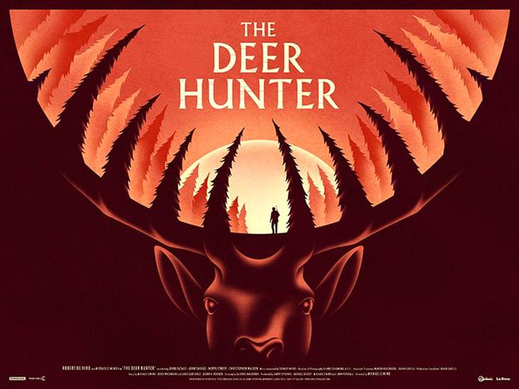 The Deer Hunter by La Boca-Magnificent Illustrations-Drawings_paints