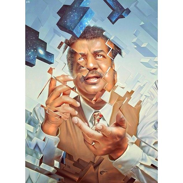 The universe is under no obligation to make sense to you - Neil deGrasse Tyson by nickybarkla-Magnificent Illustrations-Drawings_paints