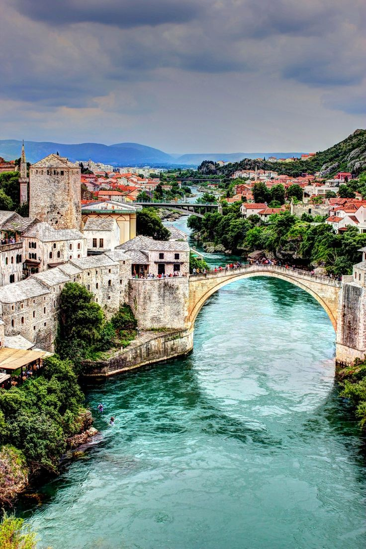 MOSTAR IS SITUATED ON THE NERETVA RIVER IN SOUTHERN BOSNIA & HERZEGOVINA