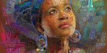 "Mosaic ""Faces of Africa"" by Charis Teves"
