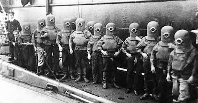 submarine crew in spacesuits 1908. No one recalls?