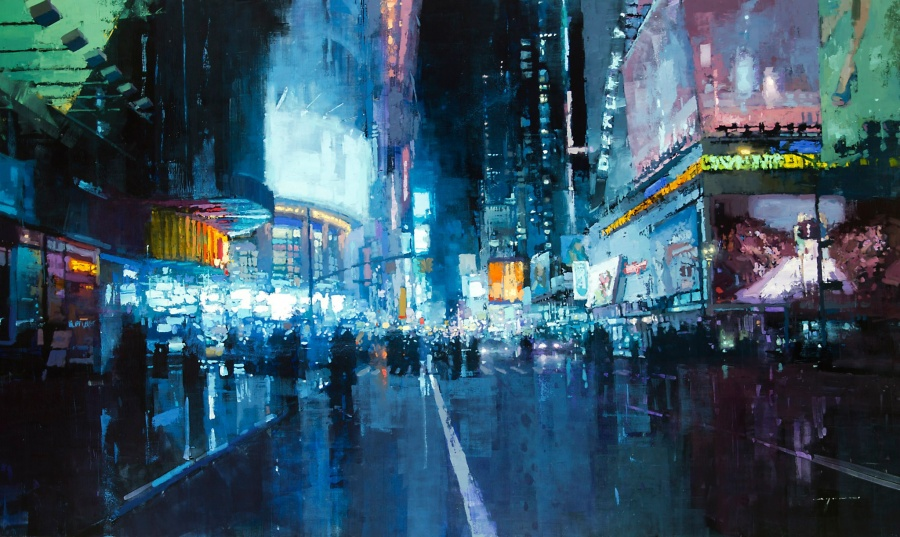 The dynamics of the city in the works of Jeremy Mann