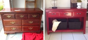 A chest of drawers revived