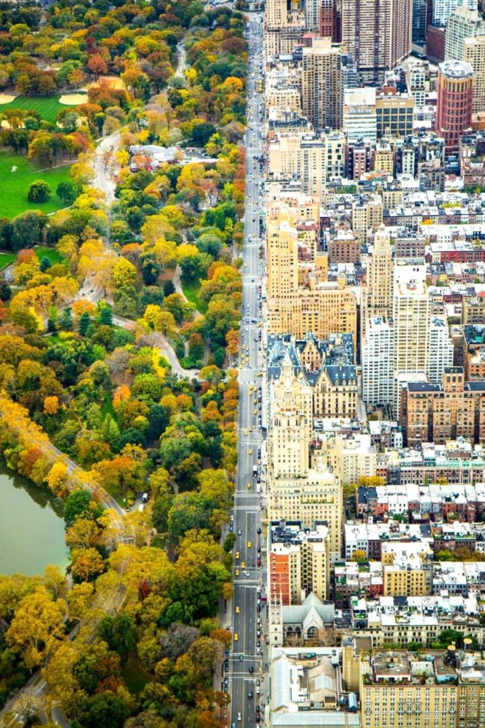Two worlds divided, New York, USA