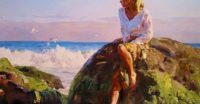 10 photos delightful watercolor works Garmash art family