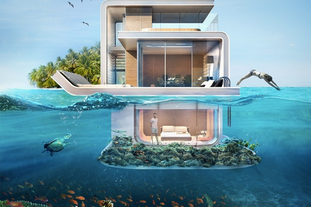 Dubai is set to unveil groovy floating underwater apartments with rooms