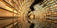 Incredible  bookshop's-tunnel  in Yangzhou, China