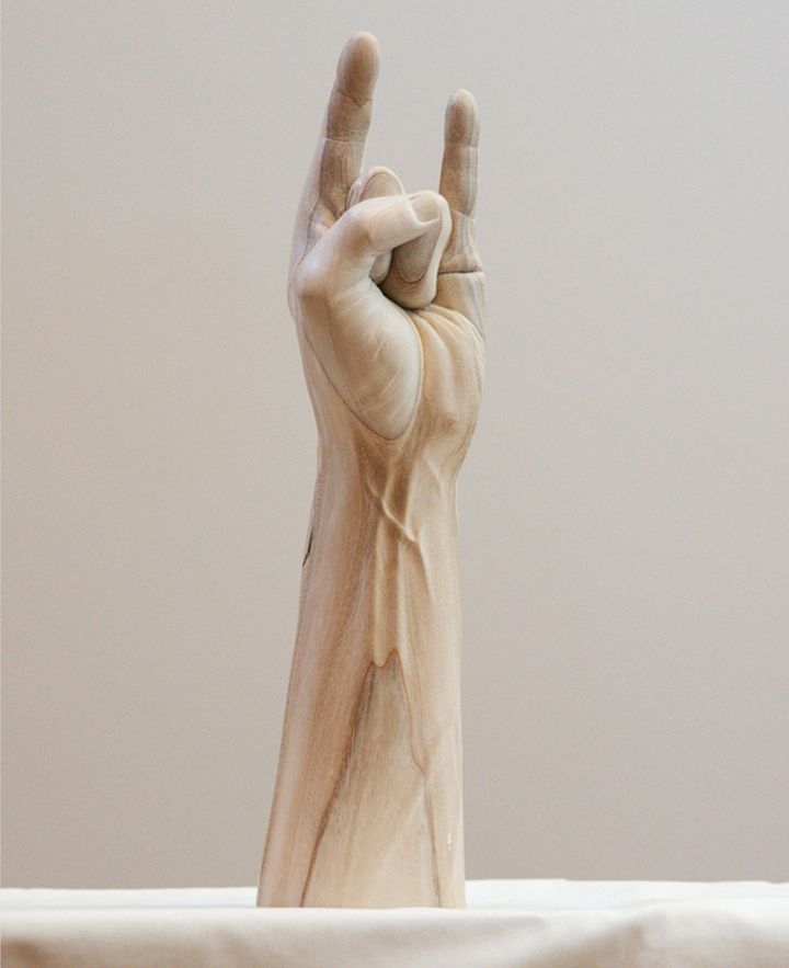 Unusual wooden sculptures by Paul Kaptein