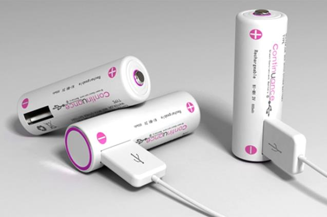 Batteries with a USB port