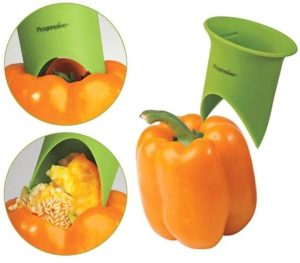 remove the core from bell peppers