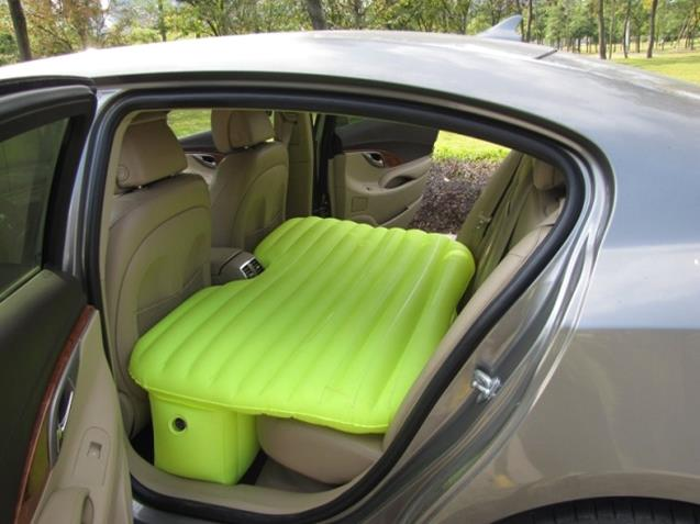 An air mattress for the back seat