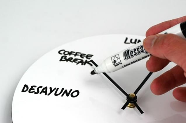 The whiteboard wall clock
