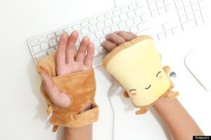 Hand-warmers for a freezing cold office