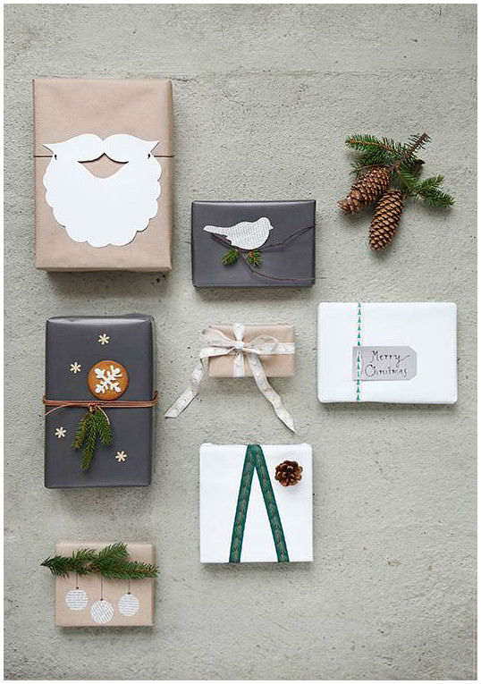 christmas gift wrap crafts