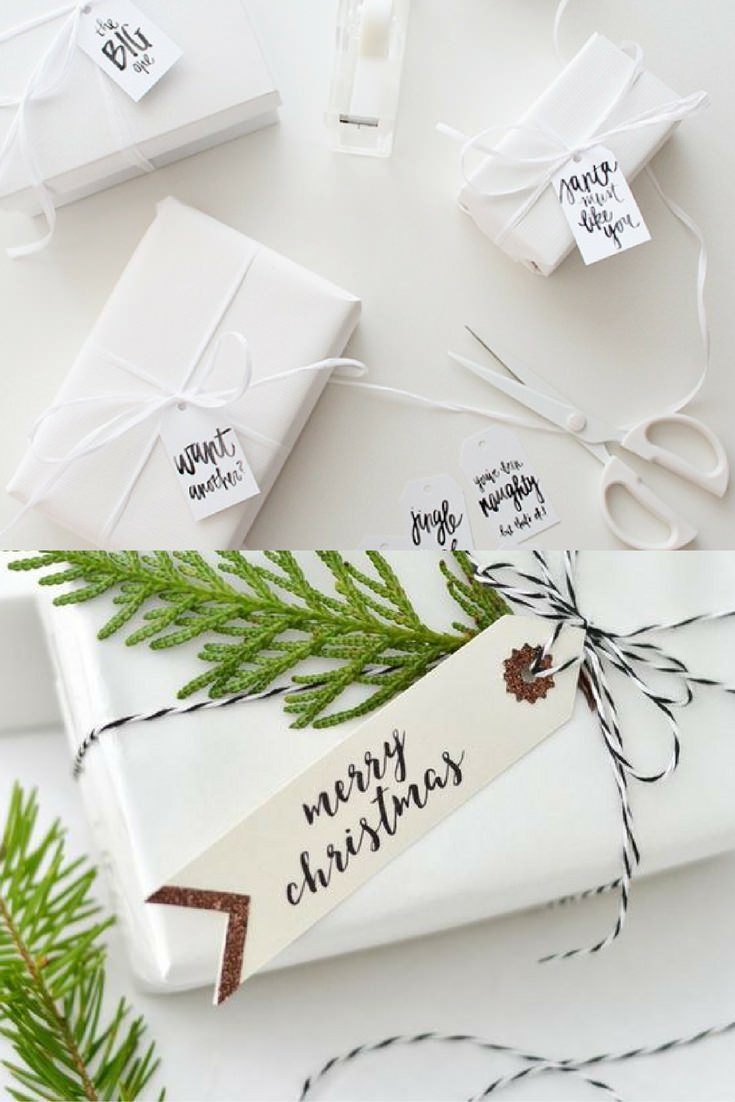 white gift pack ad cristmas