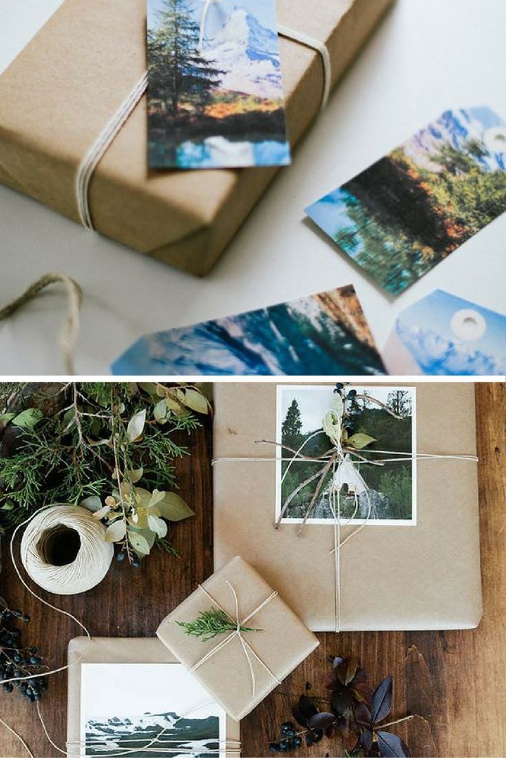Decor photographs and postcards gift