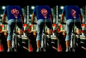 LED signal for cyclists