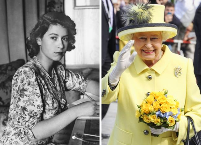 Image result for before and after pics of queen elizabeth
