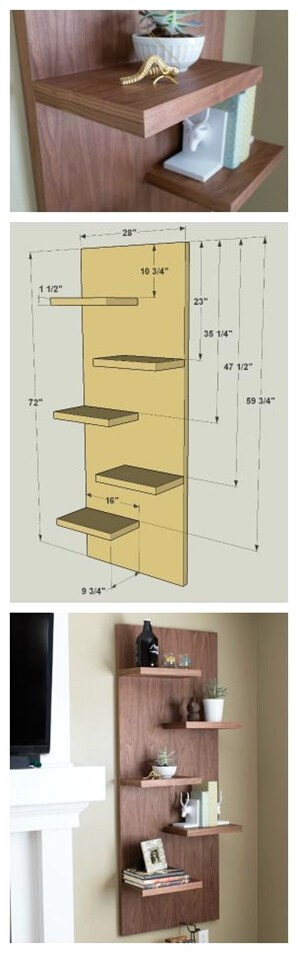 Abrupt and simple shelf-ideas-diy-budget-decor-projects