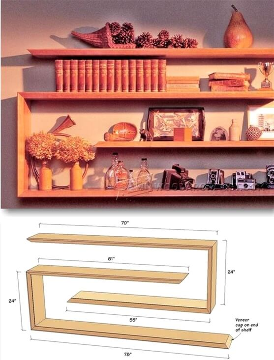 25 diy ideas for cheap and home decor sky rye design for Cheap shelving ideas
