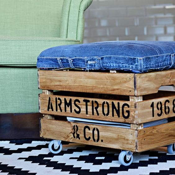 using jeans diy -decor