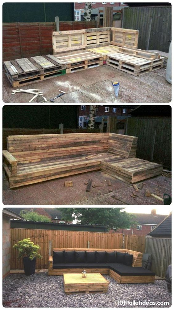 outdoor sofa diy