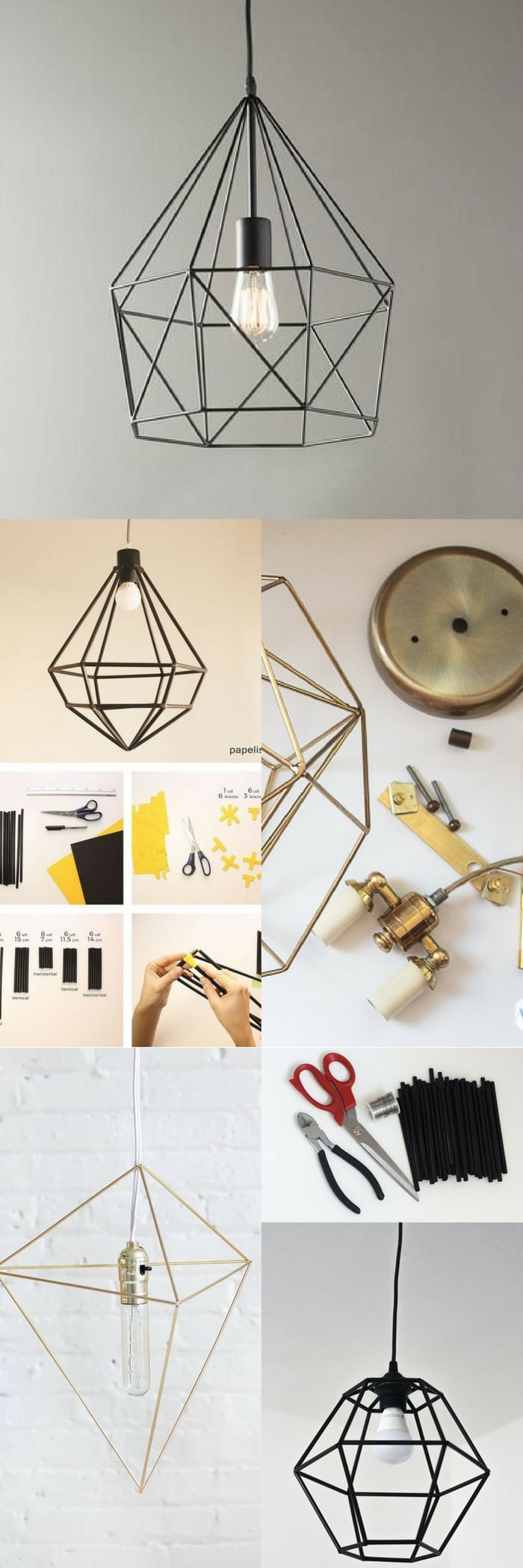 geometric lamp diy