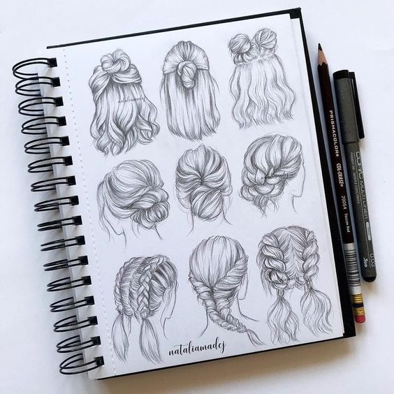 drawing ideas for  hair