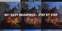 40+ easy drawings – step by step