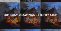 40+ easy drawings – step by step