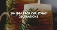 20+ ideas for christmas decorations