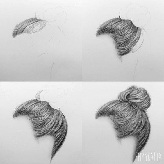 pencil drawing - hair