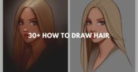 30+ How to draw hair